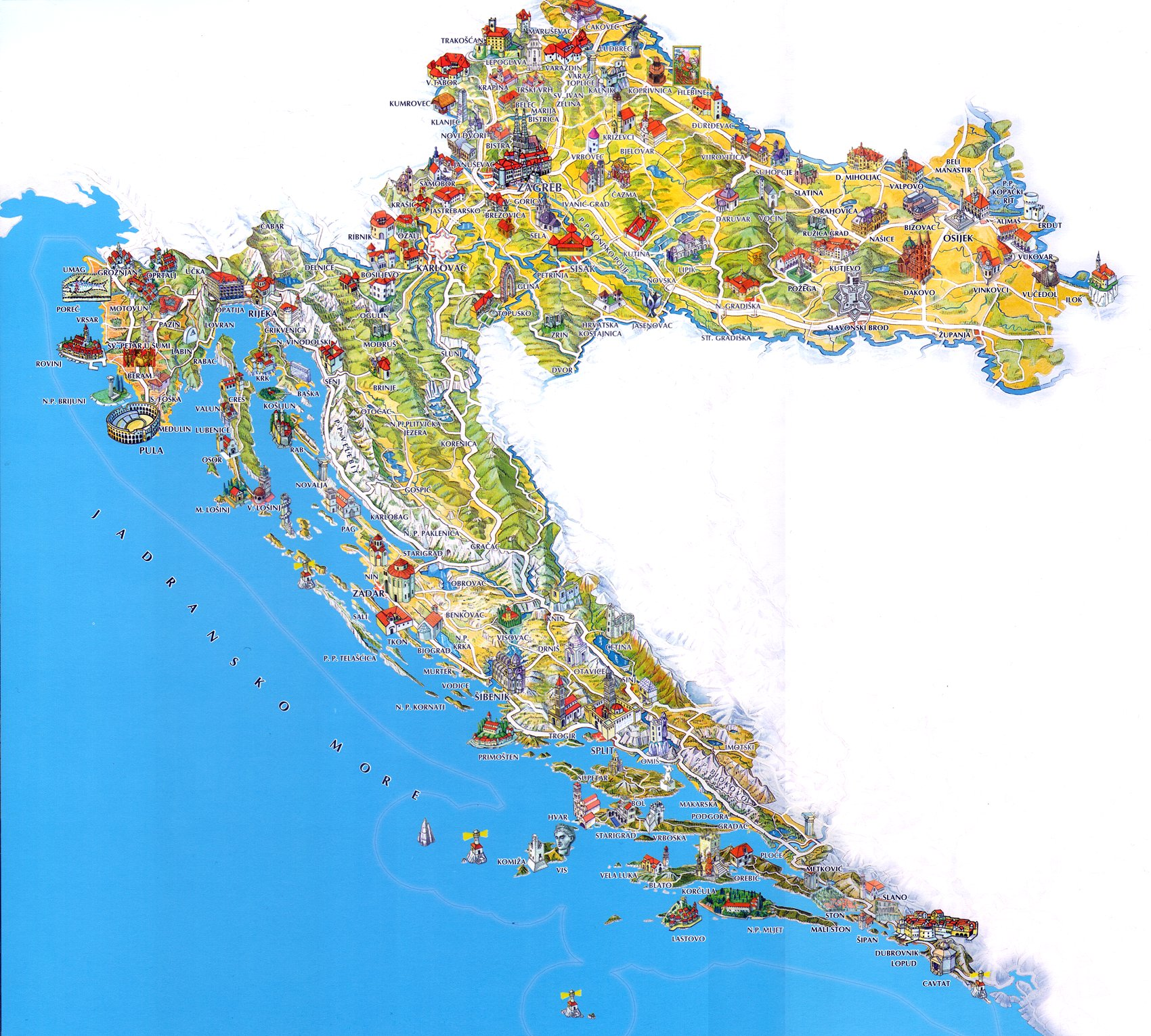 Chorwacja-mapa
