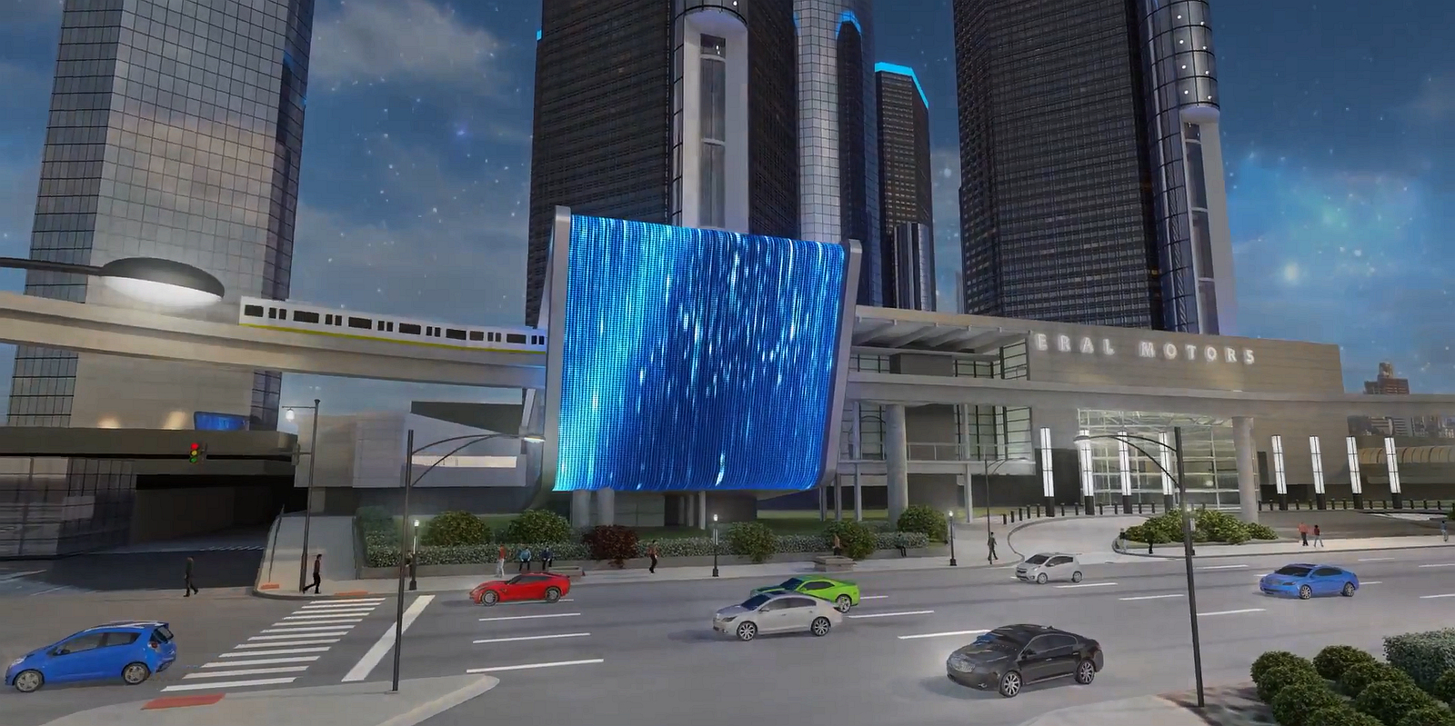 GM Renaissance Center Render 03