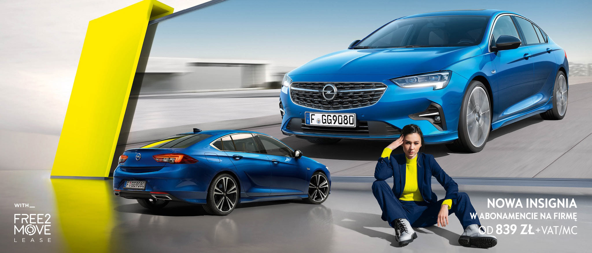 Opel Insignia, abonament Free2Move Lease