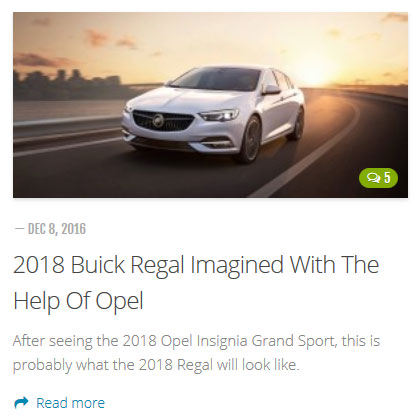 Buick Regal - blog GM Authority
