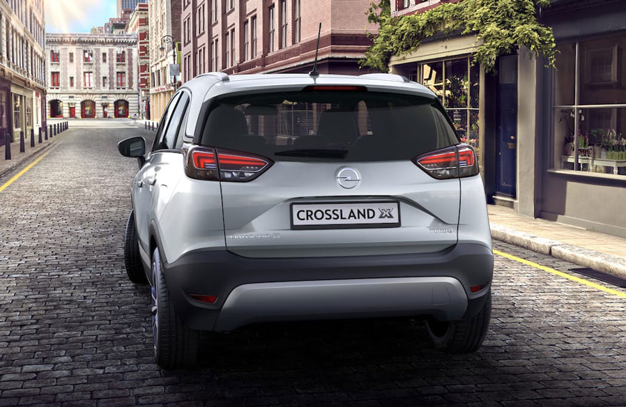 Opel Crossland X srebrny Sovereign metalic