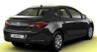 Opel Astra Active, sedan, czarny