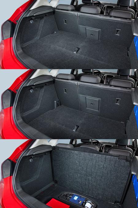 Ruchoma podłoga bagażnika FlexFloor w Oplu Astra IV