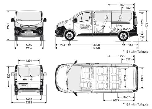 nowy opel vivaro b wymiary nadwozia dostawcze dixi car. Black Bedroom Furniture Sets. Home Design Ideas