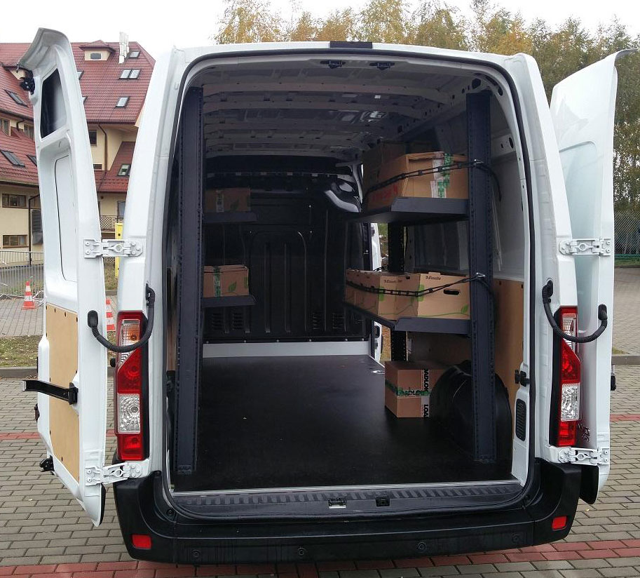 Zabudowa Kurierska Regały Opel Movano Dostawcze Dixi Car