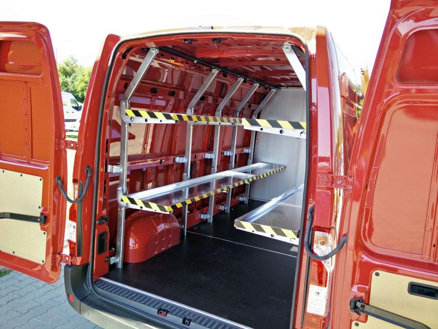 Chłodny Zabudowa kurierska, regały: Opel Movano - Dostawcze Dixi-Car GS43
