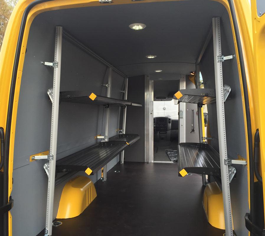 Składane Półki Dla Kurierów Dostawcze Opel Dixi Car